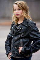 Lincoln portrait of teen in leather jacket